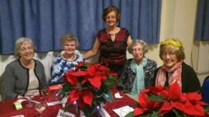 President Joan welcomes members Annette Maureen Norah and Joyce