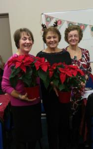 2017 Christmas party Ann,  Pat, Joan